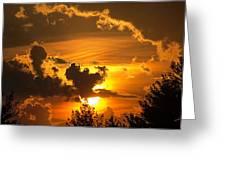Thunder Mets Sunset Greeting Card