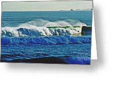 Thunder Of The Waves Greeting Card