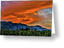 Thunder Storm In The Valley Greeting Card