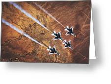 Thunderbirds In Diamond Roll Formation Greeting Card
