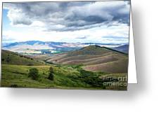 Thunderclouds Over The Hills Greeting Card