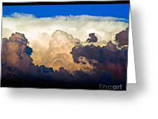 Thunderhead Cloud Color Poster Print Greeting Card