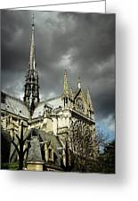 Thunderous Notre Dame Greeting Card