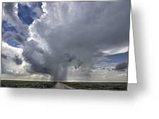 Thunderstorm And Road Greeting Card