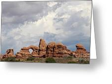 Thunderstorm Clouds Over Turret Arch Greeting Card