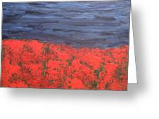 Thunderstorm Over The Poppy Field Greeting Card