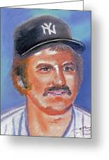 Thurman Munson Greeting Card