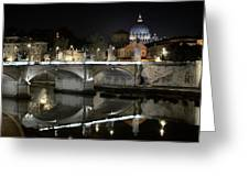 Tiber's Reflection Of Religion Greeting Card