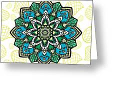 Tibetan Mandala Seamless Pattern Greeting Card