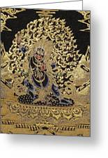 Tibetan Thangka - Vajrapani - Protector And Guide Of Gautama Buddha Greeting Card