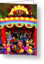 Ticket Booth Of Flowers Greeting Card
