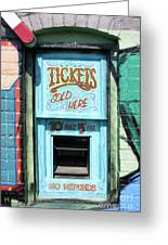 Ticket Window For Show Tickets Greeting Card