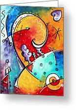 Tickle My Fancy Original Whimsical Painting Greeting Card