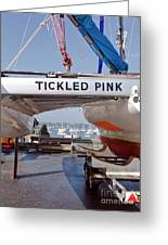 Tickled Pink In Mylor Cornwall Greeting Card