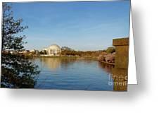 Tidal Basin And Jefferson Memorial Greeting Card