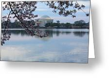 Tidal Basin Blossoms - Jefferson Memorial Greeting Card