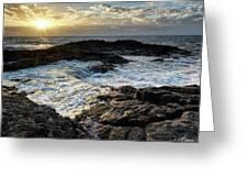 Tidal Pool Sunset Greeting Card