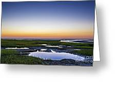 Tidal Pool Sunset Greeting Card
