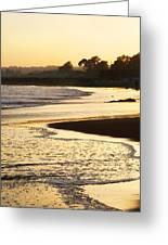 Tidal Sunset Greeting Card