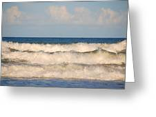 Tide Rolling To The Shores Greeting Card