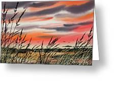Tideland Sunset Greeting Card