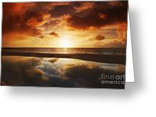 Tidepool At Sunset Greeting Card