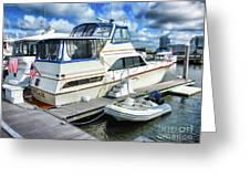 Tidewater Yacht Marina 5 Greeting Card by Lanjee Chee
