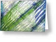 Tie Dye Art. Rainforest In Spring Greeting Card