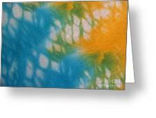 Tie Dye In Yellow Aqua And Green Greeting Card