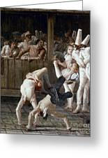 Tiepolo: Acrobats, 18th C Greeting Card