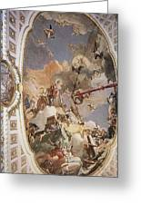 Tiepolo Palacio Real The Apotheosis Of The Spanish Monarchy Giovanni Battista Tiepolo Greeting Card