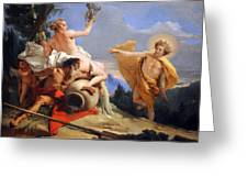 Tiepolo's Apollo Pursuing Daphne Greeting Card
