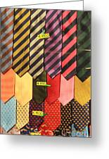 Ties In Shop Window In Venice Greeting Card