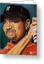 Tiger - Eldrick Woods Greeting Card