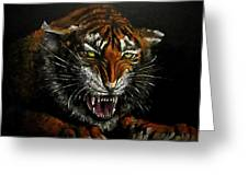 Tiger-1 Original Oil Painting Greeting Card