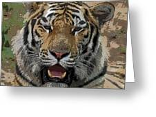 Tiger Abstract Greeting Card