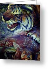 Tiger And Deer Greeting Card