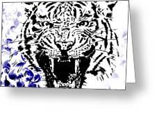 Tiger And Paisley Greeting Card