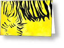 Tiger Animal Decorative Black And Yellow Poster 2 - By Diana Van Greeting Card