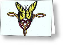 Tiger-butterfly Celtic Double Knot Greeting Card