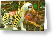 Tiger Carousel Greeting Card
