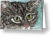 Tiger Cat Greeting Card