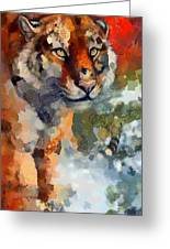 Tiger Hotty Totty Style Greeting Card