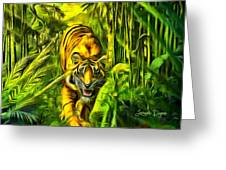 Tiger In The Forest Greeting Card