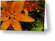 Tiger Lily Bouquet Greeting Card