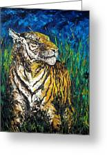 Tiger Night Hunt Greeting Card