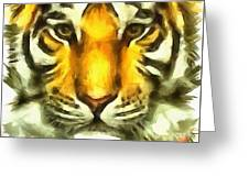 Tiger Painted Greeting Card