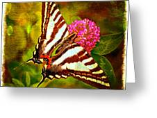 Zebra Swallowtail Butterfly - Digital Paint 3 Greeting Card