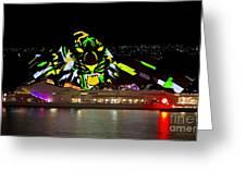 Tiger Tiger Burning Bright - Sydney Vivid Festival Greeting Card