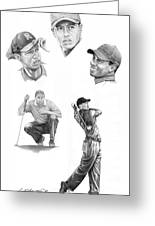 Tiger Woods- Full Circle Greeting Card